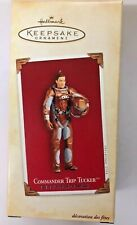 Hallmark Star Trek Chrismas Ornament Enterprise Commander Trip Tucker H6