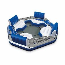 Inflatable Floating Island Pool Lake Water Party Giant Raft Lounge 4 Person