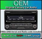 VW Interruptor 310 DAB+ Radio digital, TRANSPORTER T5 unidad reproductor de CD