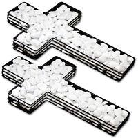 2 Stück Dekokreuz Pflanzschale Pflanzkreuz Kreuz Gitter Grabdeko Blumenschale