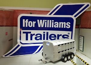 Ifor Williams OEM Livestock Tipping Tiltbed Flatbed Trailer Large Decal Sticker