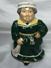 More details for 1 fine small original roy kirkham mrs bumble toby character pottery jug