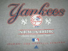 Vintage Adidas Label - The Official Stripes of the NEW YORK YANKEES (XL) T-Shirt