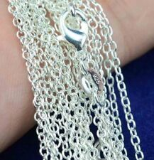 """Wholesale 925 Sterling Silver 2mm """" O """" Link Chain Necklace 16""""- 30"""" For Pendant"""