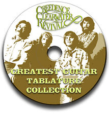 CREEDENCE CLEERWATER ROCK REVIVAL CHITARRA INTAVOLATURE CANTO BOOK CD SOFTWARE