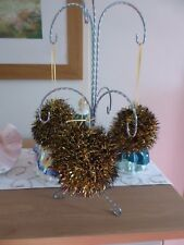 Hand knitted Christmas Tinsel Bauble Gold and Black
