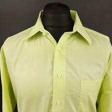 Paul Smith Mens Vintage Shirt 44 (2XL) Long Sleeve Green Regular Fit Cotton