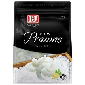 I&J Raw Prawns Tail Off 500g