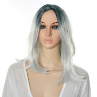 FULL WOMENS LADIES FASHION HAIR WIG LONG HEAT RESIST WARM MEDIUM BROWN BLACK