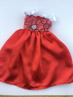 "Fits 16"" Sasha Doll or A Girl For All Time Doll Clothes Party Dress Red White"