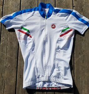 CASTELLI PRIMA FZ MEN'S sz LARGE CYCLING JERSEY SHORT SLEEVE FULL ZIP