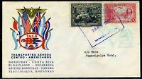 Nicaragua 1943 Tramport Aeros Centro Americano (TACA) to Honduras Cover Z246