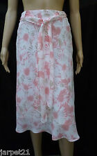 Ladies White Floral Summer Skirt Size 10 by TOGETHER