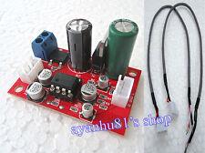 Single ac/dc 12V NE5532 op amp hifi audio pre amp amplificateur board + fil blindé