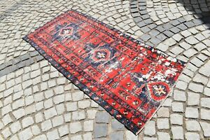 Antique Fragment Rug 36'' x 81'' Caucasian Collector's Piece Shabby Chic Rug
