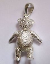 Sterling Silver Moveable Large Teddy Bear Pendant