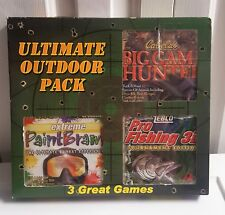 NEW 3 Pack PC (computer) Games -Cabelas Big Game Hunter, PaintBrawl, Pro Fishing