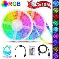 10M 300 LED Strip Light SMD 2835 RGB Flexible+24/44 Key IR Remote 12V