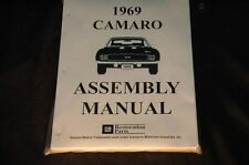 1969 CAMARO  ASSEMBLY MANUAL 100'S OF PAGES OF PICTURES, PART NUMBERS & DETAILS