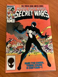 Secret Wars #8 Black Costume Origin Marvel Comics 1984 Venom NM