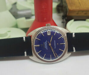 RARE 1970 OMEGA CONSTELLATION BLUE DIAL DATE CAL:561 AUTO MAN'S WATCH