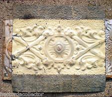 Sale Antique Victorian Nouveau Ceiling Tin Tile Shabby Chic Cottage Cabinet Door