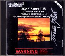 Neeme Järvi SIGNED sibelius symphony no. 6 Pelleas et Melisande Jarvi CD Filarmonica