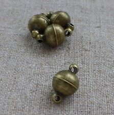 Bronze solide fermoir magnétique 8 mm, 5 jeux