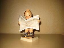 "Goebel Hummel Figurine #184 ""Latest News"" boy with newspaper Munchener Presse"