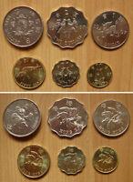 Hong Kong Coins Set of 6 Pieces 1997 aUNC