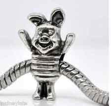 Piglet Tibetan Silver Cute Pig Piglet Beads Charm Fit Charm Bracelet