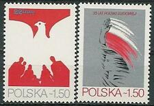 Poland stamps MNH 35 years people's republic  (Mi. 2640-41)