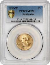 1996-W Smithsonian $5 PCGS MS70 - Modern Commemorative Gold