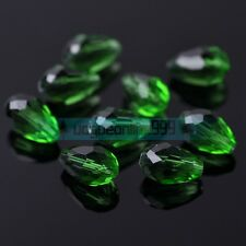 Teardrop Drop Faceted Crystal Glass Loose Spacer Beads Lot 5mm 12mm 14mm 18mm