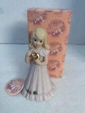 Enesco Growing Up Birthday Girls Blonde Age 9 Vintage Porcelain Figurine E-2309