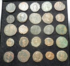 Lot of 25 Ancient Roman Coins, All Fine to VF so Detailed: Largest is 23.5 mm