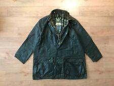 Barbour Men's A200 Border Green Waxed Coat Jacket C46/117CM Fishing Hunting VTG