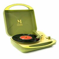 Record Player, Portable Suitcase Turntable for Vinyl Record, Belt Driven 2 Speed