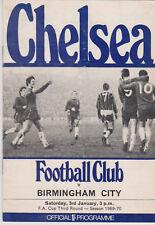 Programma / Programme Chelsea FC v Birmingham City 03-01-1970 FA Cup 3rd