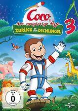 COCO DER NEUGIERIGE AFFE 3 ZURÜCK IN DEN DSCHUNGEL  DVD NEU