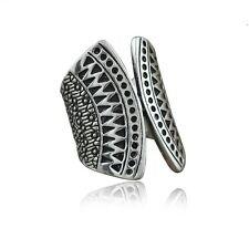 Anillo plata mandala abierto tallado anillo boho sizes 7 &8/ 17mm y 18mm etnico