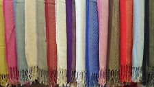 Joblot 12 Pcs High Quality Pashmina Sparkly Design Scarf Wholesale 70x200 Cm