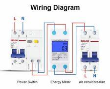 Medidor consumo de energía eléctrico kWh AC 230 V 50Hz Digital LCD