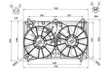 NRF Ventilador, refrigeración del motor LEXUS LS GS 47581