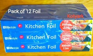 12 X kitchen  Foil Roll Home ,office party Catering Food Wrap 330 X 7.5 m approx