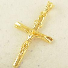 Colgante Cruz Cristo con cadena de 45 cm largo 18 KGF envio gratis.