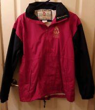 Vintage Champion 1996 Atlanta Olympics Red Black Windbreaker Jacket w/Hood #2XS