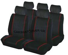 Toyota Corolla Verso - BLACK & RED Trim Car Seat Covers Protectors - Full Set