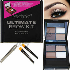 Technic Brow Ultimate Kit polveri Cera Pinzette & pennello per sopracciglia make up set occhi