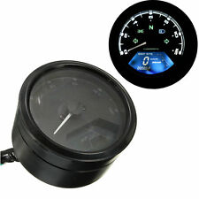 12000RPM LCD Digital Odometer Speedometer Tachometer For 2 4 Cylinder Motorcycle
